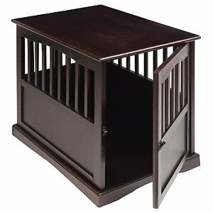 Image Is Loading Dog Kennel Wood Bed Crate Pet Cage Wooden