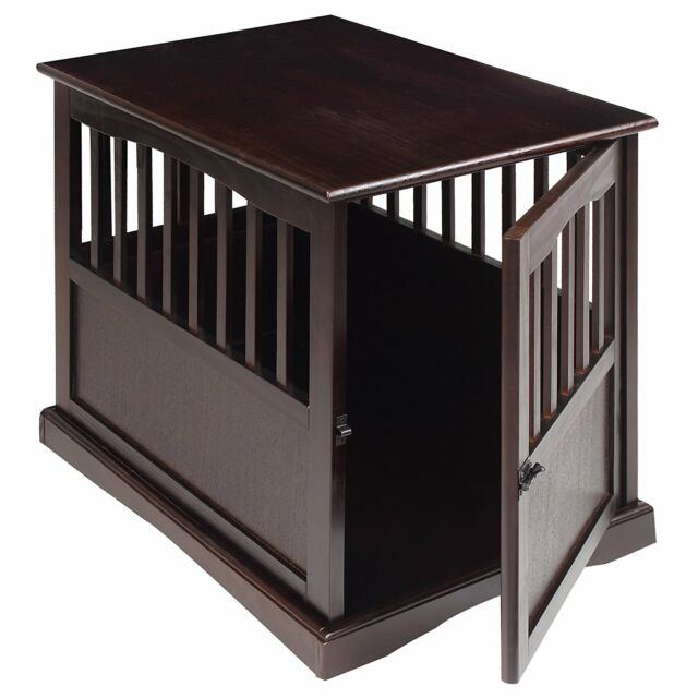Dog Kennel Wood Bed Crate Pet Cage Wooden Furniture End Table FREE  SHIPPING, NEW