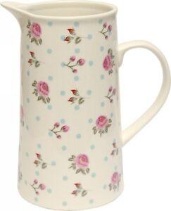 Elegant-Shabby-Rose-039-s-Vintage-Style-Water-Milk-Juice-Jug-Flower-Vase-Home-Decor