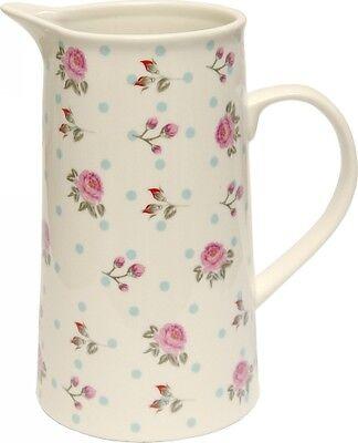 Elegant Shabby Rose's Vintage Style Water Milk Juice Jug Flower Vase Home Decor