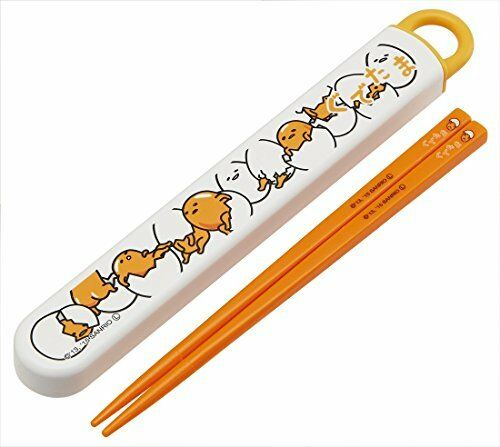 Skater chopsticks chopstick case set sliding 16.5cm Gudetama ABS2A Japan Import