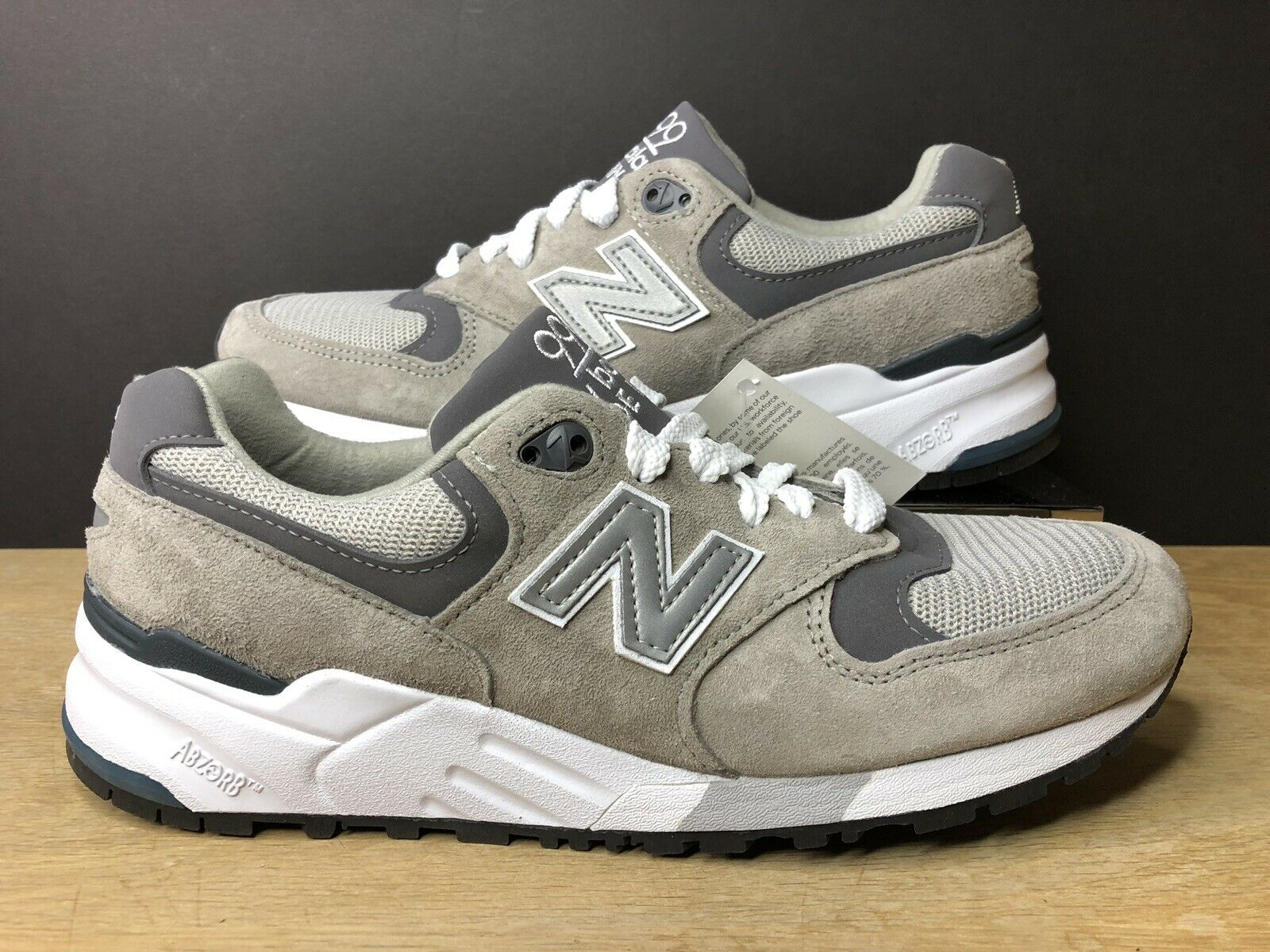 New Balance 999 Grey Pewter Running shoes Made in USA M999CGL Mens Size 5