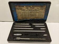 Starrett 001 X 15 12 Tubular Inside Micrometer Set No 823b