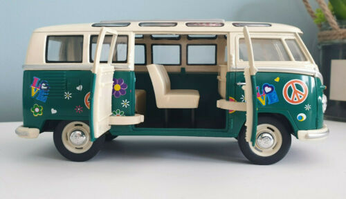 VW T1 Bus 1962 Flower Power Metall-Modellauto