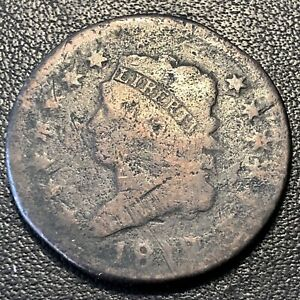1812-Large-Cent-Classic-Head-One-Cent-1c-Circulated-Rare-17068
