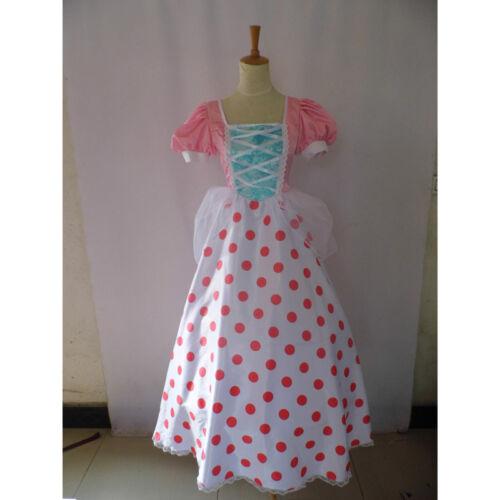 Movie Toy Story Bo Peep Dress Cosplay Costume Custom Made