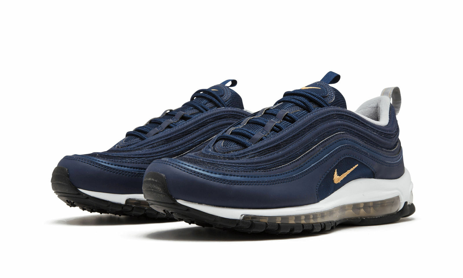 Nike Air Max 97 Men's Size 7.5-15 Midnight Navy Metallic Gold White 921826-400