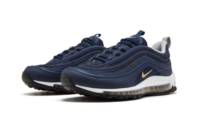 eccdd3128b40 Nike Air Max 97 OG Midnight Run Navy Blue and Metallic Gold Size ...