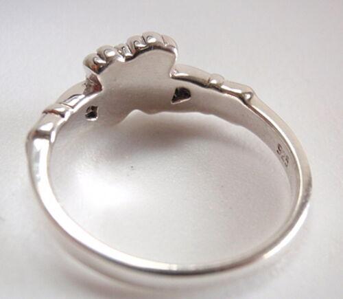 Irish Claddagh Dbl Heart Ring 925 Sterling Silver Represents Love Loyalty Friend