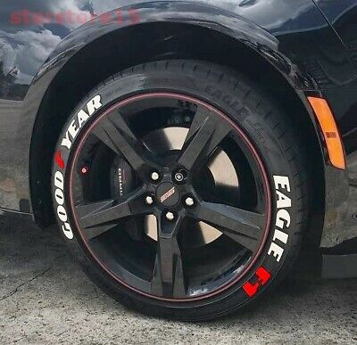 """Permanent Tire Letter Good Year Eagle F1 Stickers 15/'16/'17/'18/'19/'20/""""21/""""22-8 KİT"""