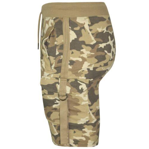 Pantalón Corto para Hombre Militar Camuflaje Elástico Liso Forro de algodón verano ropa informal