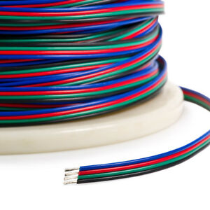 5-10-20-m-4-broches-5050-3528-Bande-LED-RVB-connecteur-d-extension-fil-de-cable