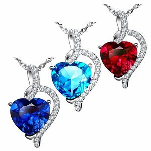 4-10-Cttw-925-Sterling-Silver-Heart-Cut-Gemstone-Pendant-Necklace-w-18-034-Chain