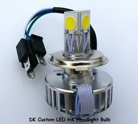 Premium White Led Drop-in Headlight Bulb H4 - Fits All Harley