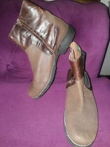 MARLBORO-CLASSICS-MED-BROWN-LEATHER-ZIP-UP-CHELSEA-ANKLE-BOOTS-SIZE-10-5-EU-45