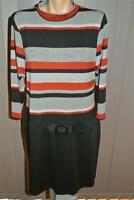 Stripe Bodice Black Dress Size 18 Rockmans Rrp $69.99. Work/casual Wear