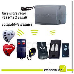 Ricevente Ricevitore Radio 2 Canali 433 Mhz Compatibile Benincà Rolling Code