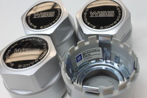 "87-92 Trans Am WS6 16/"" Wheel Center Cap Set of 4 Silver with Black CM612SET"