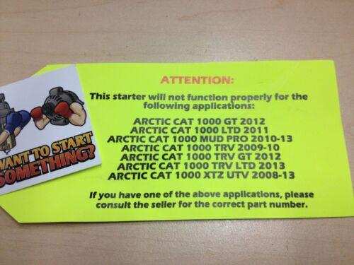 NEW Starter for Arctic Cat 2013 Prowler 700 XTX  Prowler 550 XT  Prowler 700 HDX