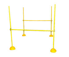 WORKOUTZ AGILITY POLES HURDLE SET WEAVE LACROSSE SPEED SOCCER TRAINING EQUIPMENT