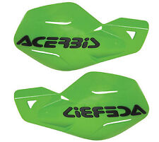 Acerbis Uniko Green Plastic Hand Guards Fits Kawasaki Dirt Bikes Motorcycles