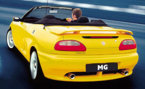 NOUVEAU ROVER MGF//MG-F//MGTF//MG-TF Trophée becquet arrière sur coffre-MADE TO ORDER.