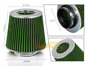 Green-3-5-034-89mm-Inlet-Cold-Air-Intake-Cone-Replacement-Quality-Dry-Air-Filter