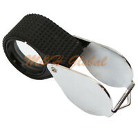 21 Mm Magnifier 10x Diamond Loupe Loop Magnification Glass Jewelers Tool - Black