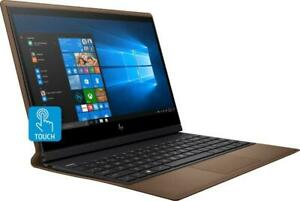 """New HP Folio Leather 2-in-1 13.3"""" Touch i7-8500y 8GB RAM 256G SSD Cognac Brown"""