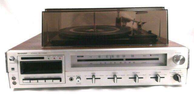 Vintage Sharp SG-141UR Record Player Turntable Cassette Tuner