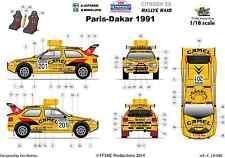 [FFSMC Productions] Decals 1/18 Citroën ZX Vatanen-Berglund #201 Paris-Dakar 91