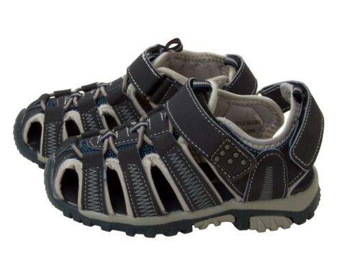 BOYS NAVY CLOSED TOE CASUAL BEACH WALKING SPORTS SUMMER SANDALS UK SIZE 6-12