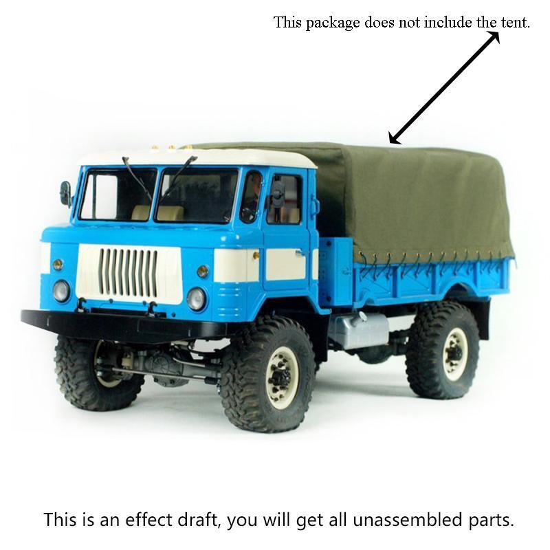 Camión Militar Cruzada Kit Motor trompeta eje ejes de conexión radio control 1 10 GC4 Kit 4WD Coche Modelo