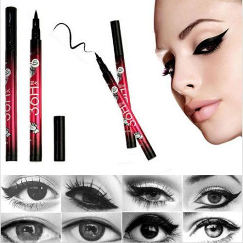 Black Waterproof Liquid Eyeliner Eye Liner Pencil Pen Make Up Beauty Comestics
