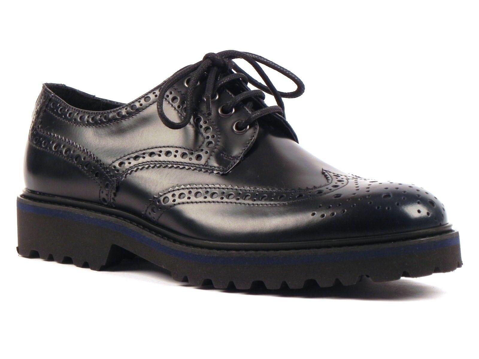 chaussures hommes SOLDINI INVERNO 19642  INGLESE ALLACCIATO bleu
