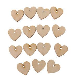 100-pezzi-Forma-di-ritaglio-del-legno-Fetta-di-cuore-incompiuta-con-foro-per