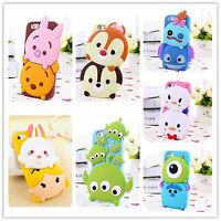 Hot Cute 3D Cartoon Animal Soft Silicone Rubber Case Cover Skin For Mobile Phone