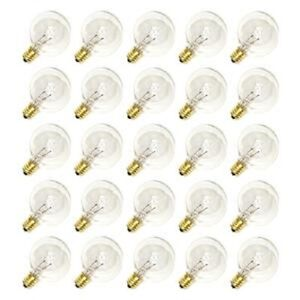Sival 5w G40 E12 Base Clear Incandescent Globe String