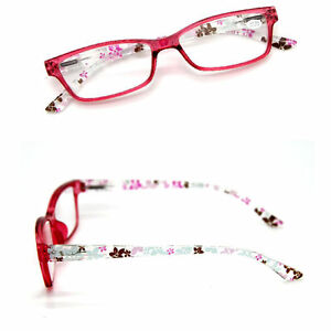 Ladies Flower Floral Spring Hinges Reading Glasses Presbyopia 1.00~ 4.00 Diopter