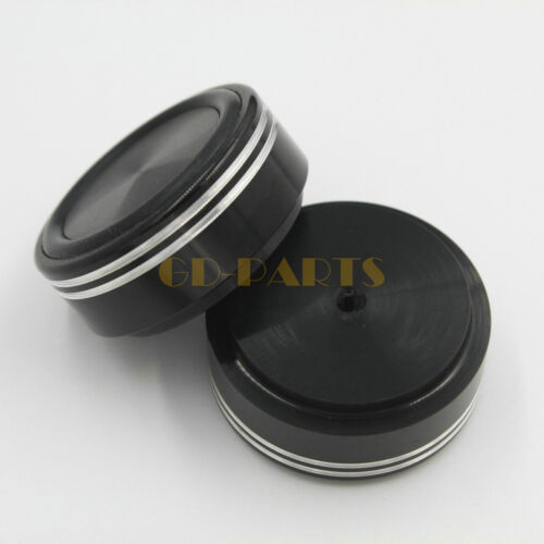 39x17mm Machined Aluminum Speaker Amplifier Chassis Feet Isolation Stand Black*4