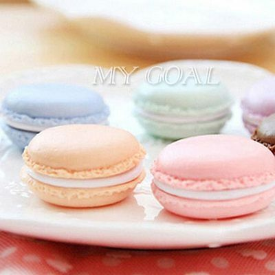 5 x Lovely Macaron Cake Shape Earrings Ring Necklace Jewelry Storage Display Box