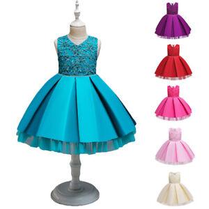 Flower-Kid-Girls-Dress-Toddler-Princess-Party-Dresses-Birthday-Wedding-Christmas