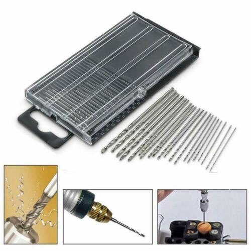 20PC Mini Tiny Micro HSS Twist Drill Bit Set 0.3mm-1.6mm Model Craft With-C C8V7