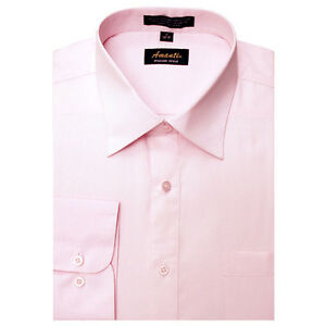 New Amanti Mens Solid Light Pink Wedding Formal Dress Shirt - eBay