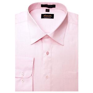 New amanti mens solid light pink wedding formal dress for Pastel pink dress shirt