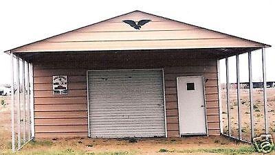 20' X 31' X 8' COMBO Carport & Garage FREE INSTALL. NATION ...