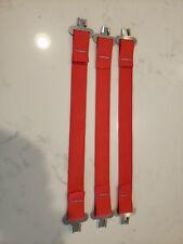 Bullard Hard Hat Liner Suspension One Set Of 3 Red Straps And Clips
