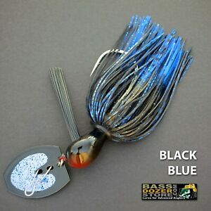 Bassdozer-BLADED-jigs-BLACK-BLUE-SNAGLESS-bass-jig