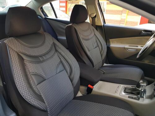 Sitzbezüge Autositzbezüge für Skoda Roomster schwarz-grau V659753 Vordersitze