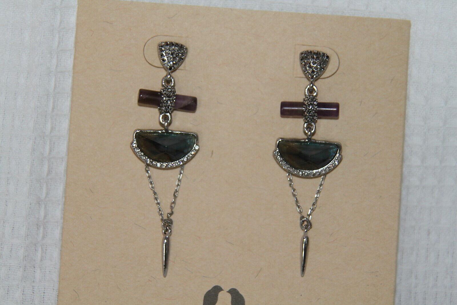 Chloe & Isabel Earrings (new) RIVERSTONE STATEMENT EARRINGS (E449BLAR)